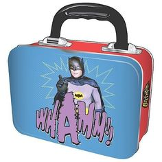 BATMAN and ROBIN TIN TOTE - RETRO 1966 BATMAN Metal SCHOOL Lunch Box in Home, Furniture & DIY, Cookware, Dining & Bar, Food & Kitchen Storage | eBay