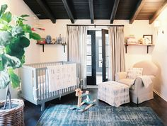 the boo and the boy: boy nurseries---I like how the crib is angled in the corner insead...