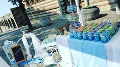 #baptism #decoration #boy #baptismdecor #summerbaptism #september #blue #white September, Table Decorations, Summer, Blue, Furniture, Home Decor, Summer Time, Decoration Home, Room Decor