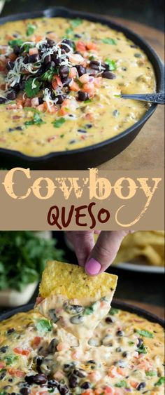 Loaded Cowboy Queso Dip - The Cozy Cook
