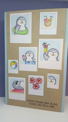 Card made with all MFT...Stamps set Penguins in Paradise and Die-namics Precious Polaroids and MFT cardstock...