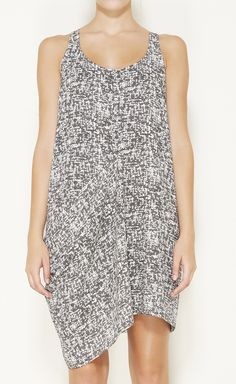 Acne Charcoal And White Dress
