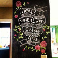 chalkboard wall- www.amandahofmann.com
