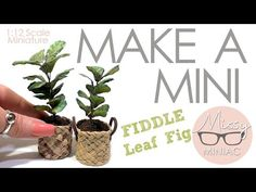 HOW TO MAKE this Fiddle Leaf Fig. MAKE A MINI QUICKIE - EASY 1:12 Scale Modern Miniatures TUTORIAL - YouTube Fiddle Leaf Fig, Miniature Plants, Barbie Furniture, Diy Kits, The Creator, Place Card Holders, Leaves, Scale, Miniature Tutorials