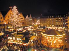 Weihnachtsmarkt (Christmas market) there is absolutely nothing in the world any more festive or fun than these German seasonal markets. Kartoffel suppe, brotchen und glühwein just do it :)