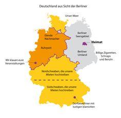 Graphitti-Blog | Die Welt erklärt in überwiegend lustigen Grafiken. | Deutschland aus Sicht der Berliner