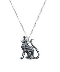 Look at this #zulilyfind! Black  & Stainless Steel Feral Bones Pendant Necklace #zulilyfinds