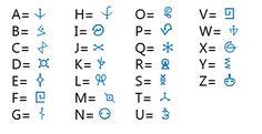 Alphabet A, Sign Language Alphabet, Alphabet Symbols, Ancient Alphabets, Ancient Symbols, Writing Fonts, Writing Prompts, Different Alphabets, Element Symbols