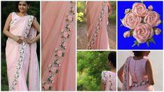 How to make ribbon work saree - ArtsyCraftsyDad