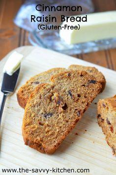 The Savvy Kitchen: Cinnamon Raisin Bread (Gluten-Free)