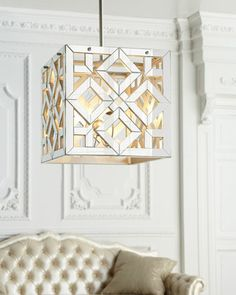 Mirrored Cube Pendant Light by Regina-Andrew Design at Horchow