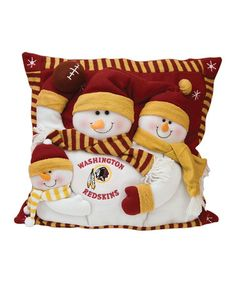 Take a look at this Washington Redskins Snowman Trio Pillow by Evergreen on #zulily today!
