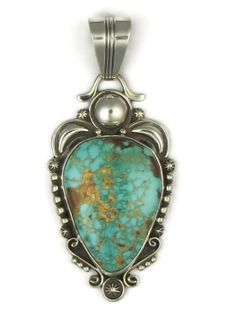Natural High-Grade Royston Turqoise Pendant by Fritson Toledo and Turquoise Jewelry from Southwest Silver Gallery http://www.southwestsilvergallery.com/AWSCategories/p/80/Turquoise-Pendants