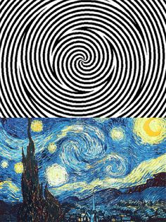 Procrastination Playground – An efficient way to waste time Van Gogh's starry night optical illusion Beste Gif, Wow Art, Mind Blown, Doctor Who, Fun Facts, Funny Pictures, Funny Memes, Funny Gifs, Videos Funny