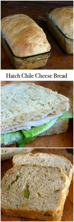 Hatch Chile Cheese Bread is a tender, airy bread with a crispy crust and a smoky spicy flavor that makes great sandwiches! Hatch Green Chili Recipe, Green Chili Recipes, Hatch Chili, Mexican Food Recipes, Mexican Cooking, Chile, Yeast Bread Recipes, Cheese Bread, Cheddar Cheese