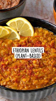 Vegan Lentil Recipes, Vegan Indian Recipes, Vegan Dinner Recipes, Curry Recipes, Vegan Dinners, Chilli Recipe Vegetarian, Cooking Recipes, Vegan Indian Food, Vegan Soul Food Recipes