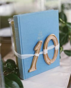 Love this wedding! Sans the tied on table numbers and wooden barrels.
