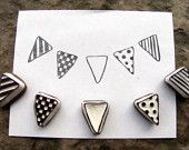 bunting flag stamps -set of 5