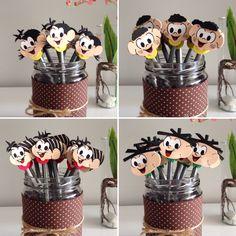 lembrancinha turma da mônica E. Kids Crafts, Flamingo, Alice, Toys, Children, Birthday, Party, Professor, Chicken Crafts