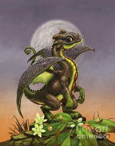 Avocado Dragon Digital Art by Stanley Morrison