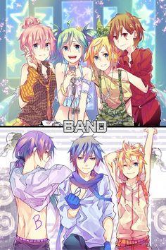 Tags: Anime, Curryuku, Vocaloid, Megurine Luka, Hatsune Miku, KAITO, Kamui Gakupo