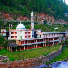 Grand Mosque at karakoram highway in Batgaram. Pakistan