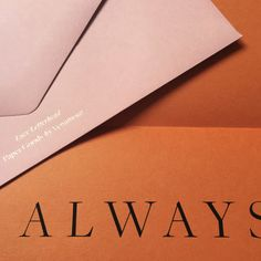 """Package of Four Love Letterheads""""Always"""" / Rust Enclosure & Rose Envelope-Paper Goods by Venamour"""