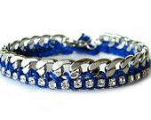 Rhinestone Friendship Bracelet-COBALT BLUE.INDIGO- Shipping with tracking