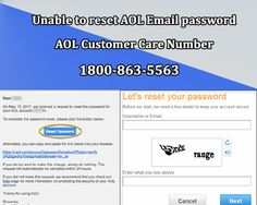"""#Unable to #Reset #AOL #Email #Password Contact #AOL #Support Team 1800-863-5563 We are here to provide a solution of the issues users' face where they are """"unable to reset the AOL Email password"""". We are providing a solution to the user for the same with step by step. The users have to just follow the instructions to resolve the issue. They can contact to our tech support system through #AOLCustomerServiceNumber +1-800-863-5563 #AOLCustomerCare #AOLCustomerSupport #AOLTechnicalSupport"""