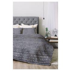 Gray Holli Zollinger Bogo Denim Rain Light Comforter Set (Twin XL) 2pc - DENY Designs, Gray White