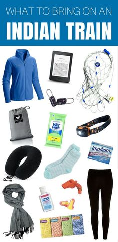 TRAIN TRAVEL IN INDIA: What to Bring on an Indian Train to Survive Those Long, Long Rides! A list of travel essentials for added safety, comfort and a bit of entertainment.