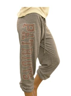 CUTE!  New England Patriots Sweatpants from www.junkfoodclothing.com  $42    Buy here: http://www.junkfoodclothing.com/webapp/wcs/stores/servlet/Product1_10052_10051_-1_21666_20558_20570