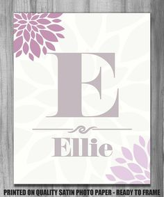 Nursery Art Personalized Name to Match by PrintsbyChristine, $13.00