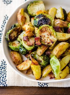 Recipe: Roasted Potatoes with Bacon & Brussels Sprouts
