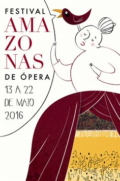 Another from my poster class. This one it's to illustrate a opera festival that happens once a year in my hometown.
