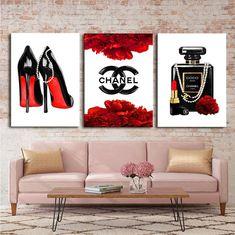 Fashion wall art, Fashion 3 set print, Painting on canvas, Fashion print Chanel Wall Art, Chanel Canvas, Chanel Decor, Chanel Art, Chanel Perfume, Chanel Logo, Fashion Wall Art, Fashion Painting, Fashion Prints