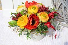 Summer+red+Květináč+v+letních+barvičkách,+výška:16cm,šířka:18+cm.