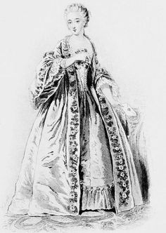 Madame du Barry.    An engraving from Rose Bertin by Émile Langlade