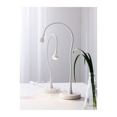 JANSJÖ LED work lamp IKEA Uses LEDs, which consume up to 85% less energy and last 20 times longer than incandescent bulbs.