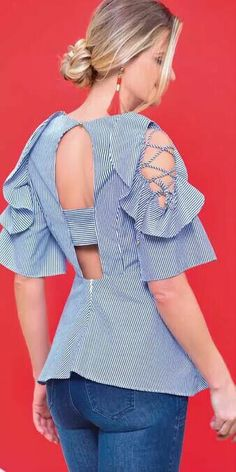 Blouses for women – Lady Dress Designs Cool Outfits, Fashion Outfits, Womens Fashion, Kebaya Modern Dress, Summer Office Outfits, Classy Casual, Blouse Patterns, Ladies Dress Design, Pattern Fashion