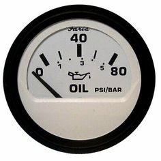 Sponsored Ebay Faria Euro White 2 Oil Pressure Gauge 80psi 12902 In 2020 Gauges Cars Trucks Pressure Gauge