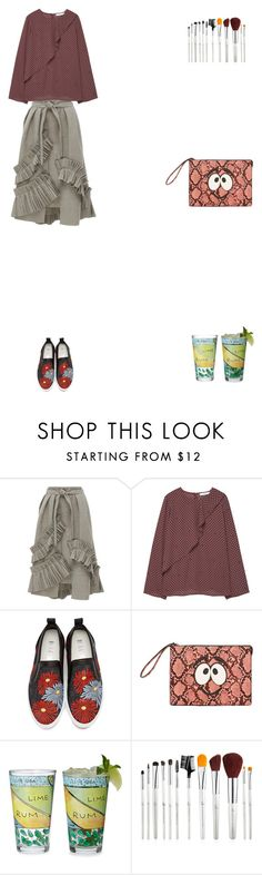 """""""Grace"""" by zoechengrace ❤ liked on Polyvore featuring MANGO and MSGM"""