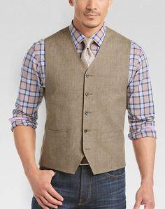 Joseph Abboud Light Brown Modern Fit Vest