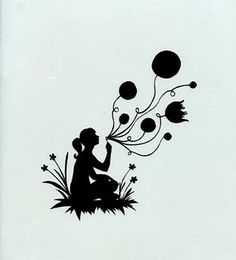 papercutting template (free)...balloons could flout straight up and have pictures of what you're thinking/dreaming of.