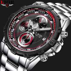 LIGE Mens Watches Top Brand Luxury Business Quartz Watch Men Stainless Steel Casual Waterproof Sport Watch Man Relogio Masculino #Affiliate