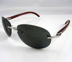 8fd54a19284 Cartier Wooden Sunglasses 3524016 In Silver with Dark lens
