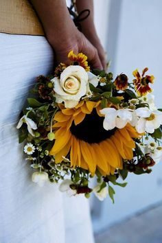 Sunflower Wedding Bouquet Planning a destination wedding? Get tips and advice or plan online by yourself!! More info at www.destinationweddingcollective.com