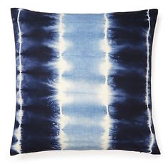 One Kings Lane - To Dye For - Shibori 18x18 Pillow, Indigo