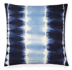 One Kings Lane - To Dye For - Shibori 18x18 Pillow, Indigo