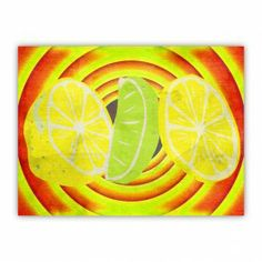 Cool Pop Art Lemon Lime Wood Print $29.96